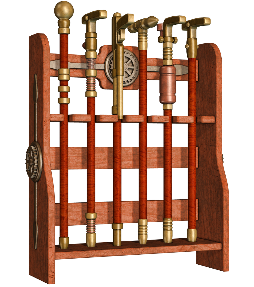Steampuunk Cane Rack Png Stock By Roy