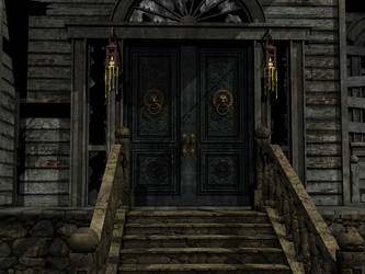 Haunted House 01 PNG Stock by Roy3D