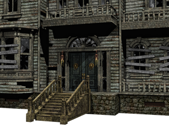 Haunted House 02 PNG Stock by Roy3D