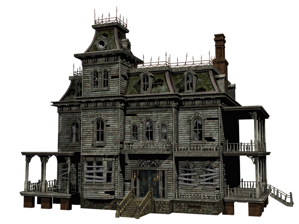 Haunted House 03 Png Stock By Roy3d On Deviantart
