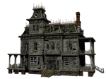 Haunted House 03 PNG Stock