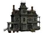 Haunted House 04 PNG Stock