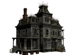 Haunted House 05 PNG Stock
