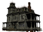 Haunted House 06 PNG Stock