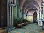 Premade Background Stock Monastery 01