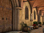 Premade Background Stock Monastery 02