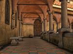 Premade Background Stock Monastery 03