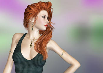 Red Haired Beauty by Roy3D