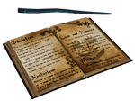 Spell Book And Wand PNG Stock