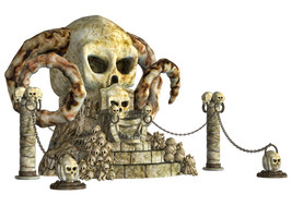 Spooky Skulls PNG Stock 02 by Roy3D