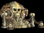 Spooky Skulls PNG Stock 02