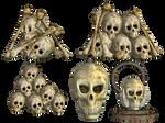 Spooky Skulls PNG Stock 03