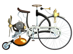 Steampunk Bike 01 PNG Stock