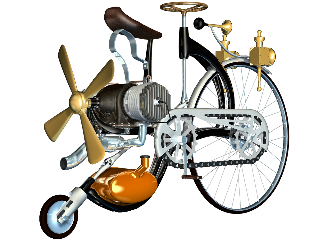 Steampunk Corner Png Steampunk Bike 02 Png Stock by
