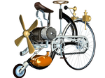 Steampunk Bike 02 PNG Stock
