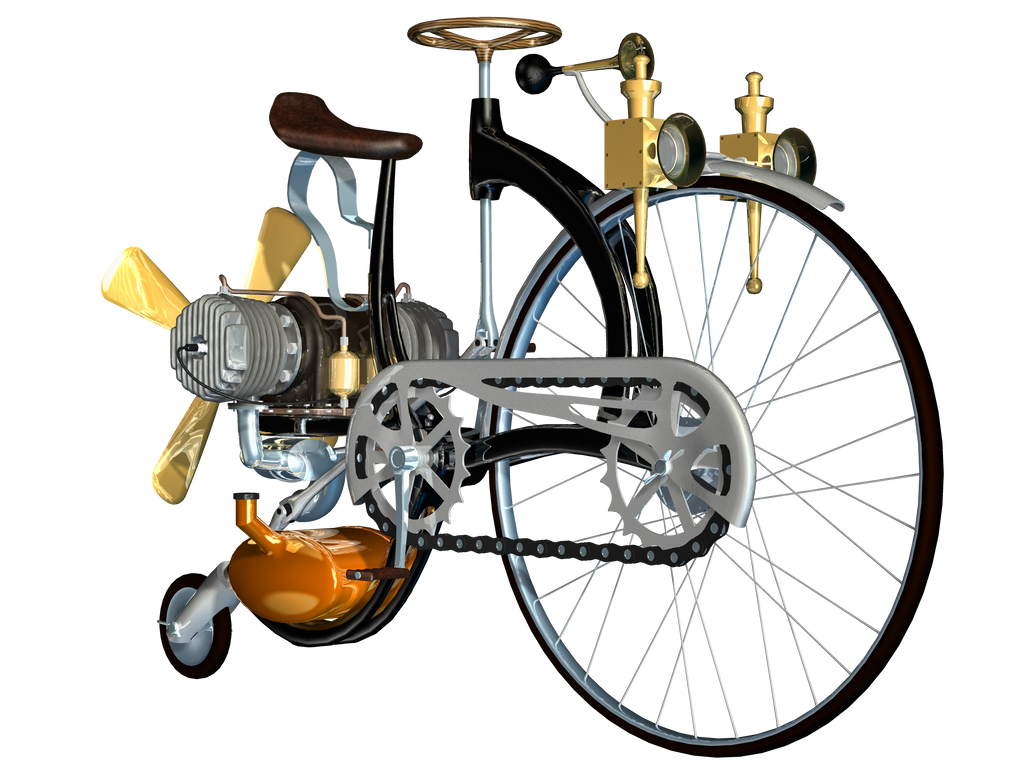 Steampunk Corner Png Steampunk Bike 03 Png Stock by