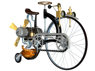 Steampunk Bike 03 PNG Stock by Roy3D