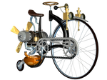 Steampunk Bike 03 PNG Stock