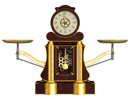 Steampunk Clock 01 PNG Stock by Roy3D