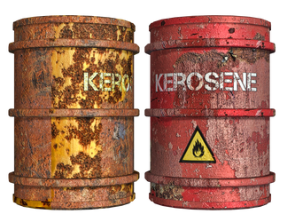 Rusty Oil Drums PNG Stock by Roy3D