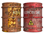 Rusty Oil Drums PNG Stock
