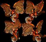 Magical Dragon PNG Stock