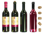 Wine Bottle PNG Stock