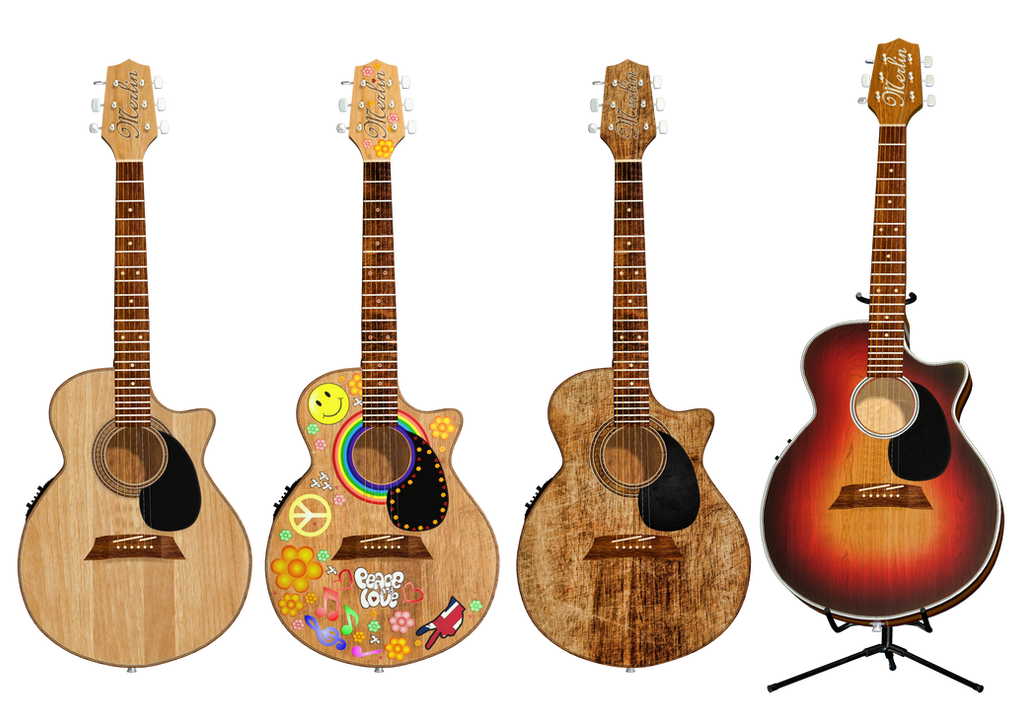 Guitar PNG Stock