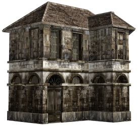 Haunted House 07 PNG Stock