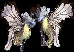 Fantasy Fairy Dragon 03 PNG Stock