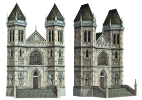 Fantasy Building 01 PNG Stock by Roy3D