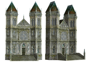 Fantasy Building 02 PNG Stock by Roy3D