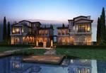 Premade Background Luxury House