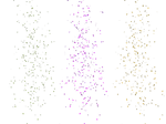 Scattered Leaves and Petals PNG Stock 02