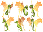 Fantasy Fairy Dragon 04 PNG Stock