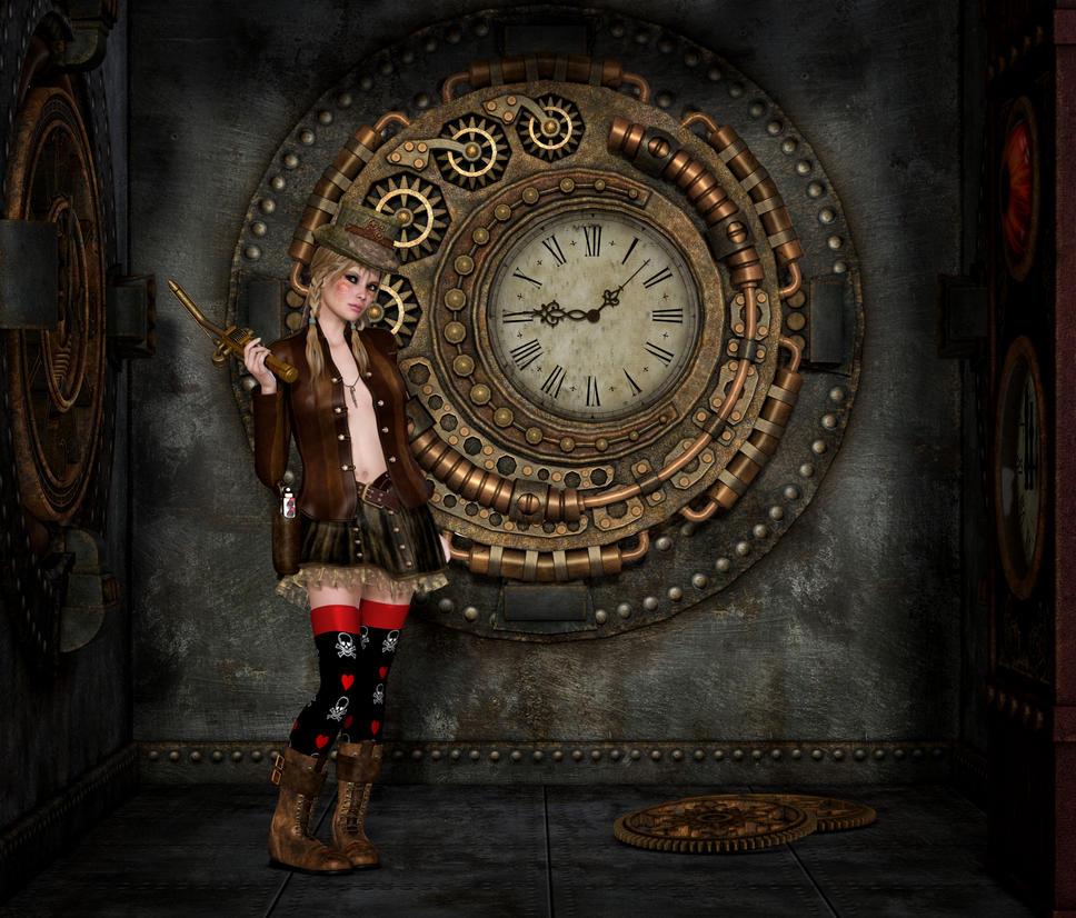 steampunk clockwork mechanic by roy3d on deviantart