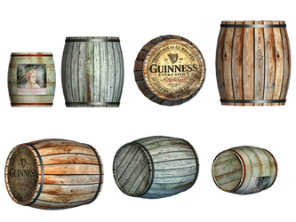 Barrels PNG Stock by Roy3D
