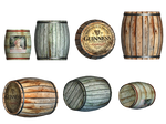 Barrels PNG Stock