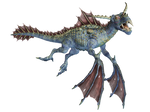 Water Dragon 02 PNG Stock