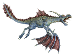Water Dragon 03 PNG Stock