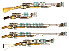 Steam Rifle 2 PNG Stock by Roy3D