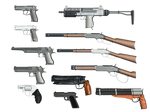 Gun Selection PNG Stock