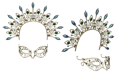 Headpiece  And Mask PNG Stock by Roy3D