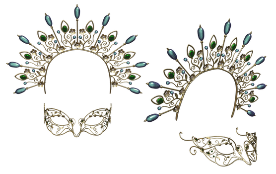 Headpiece  And Mask PNG Stock