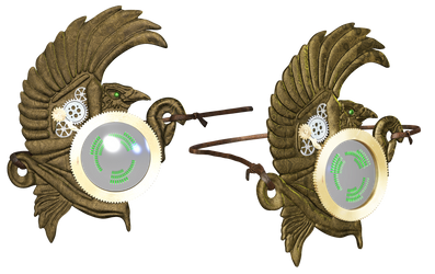 Steampunk Eyepiece PNG Stock by Roy3D