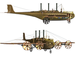 Steampunk Flying Machine 01 PNG Stock