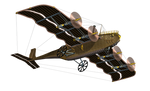 Steampunk Flying Machine 03 PNG Stock