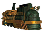Steampunk Train 01 PNG Stock
