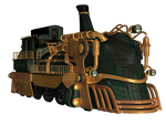 Steampunk Train 02 PNG Stock