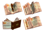 Fantasy Books PNG Stock